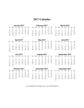 printable calendar vertical 2017 printable 2017 calendar on one page vertical