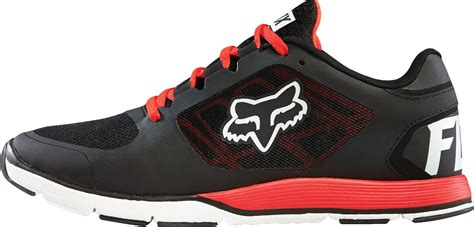 fox shoes fox racing mens black white motion evo