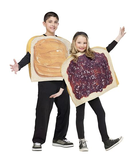 Kids Movie About A Toaster Peanut Butter Jelly Kids Couple Costume