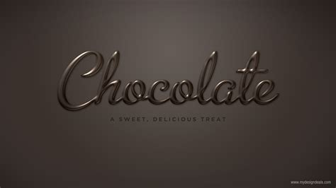design font photoshop create a smooth chocolate text effect in photoshop a