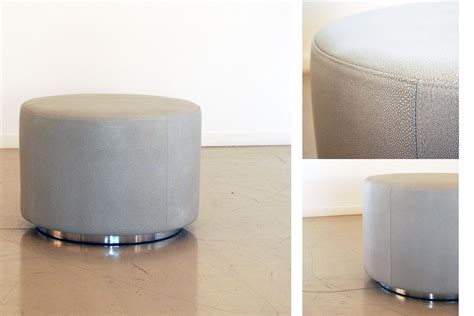 Small Circle Ottoman Small Leather Ottoman Custom Ottomans