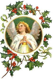 vintage angels christmas clipart