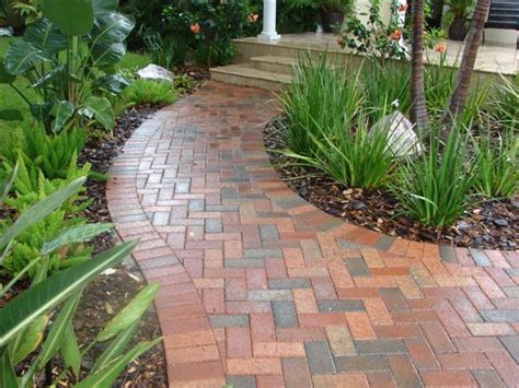 Design Ideas For Brick Walkways Brick Walkway Traditional Landscape Ta By Design Elite Ta Bay