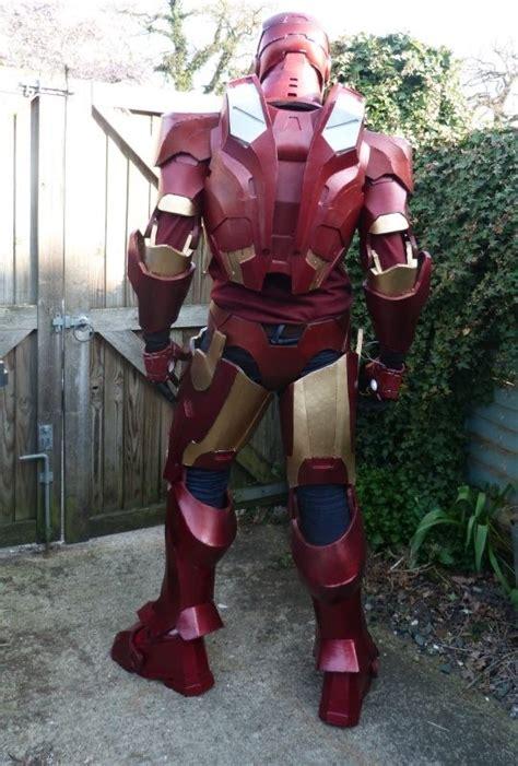 superhero fan builds iron man costume foam