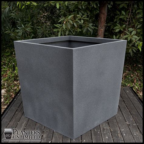 Modern Commercial Planters by Modern Tapered Fiberglass Commercial Planter 48in L X 48in