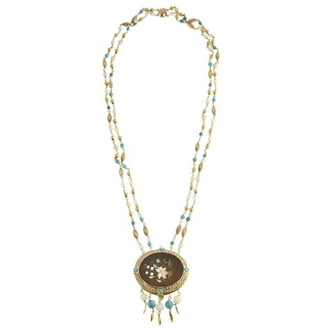 Cleopatra Necklace 1 cleopatra inspired turquoise and gold necklace with