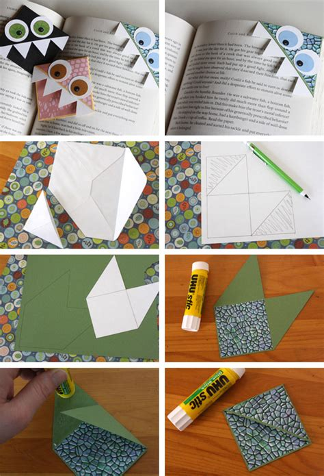 Cool Origami Bookmarks - page corner bookmark for