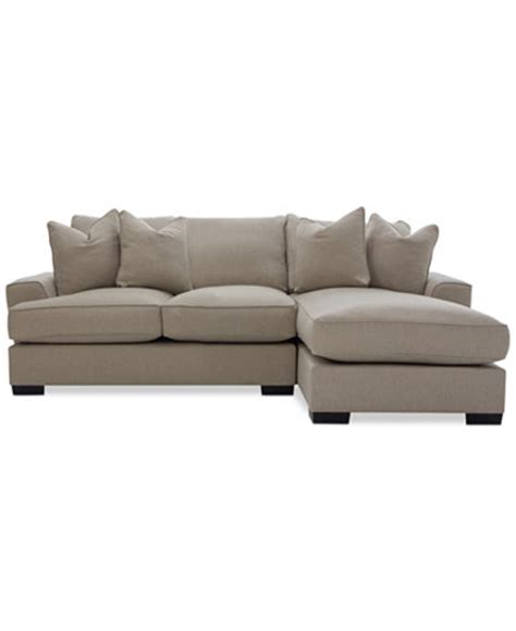 Macys Sectional by Ainsley 2 Sectional With Chaise 4 Toss Pillows