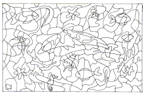 printable dolphin puzzle sea creatures printable student activity