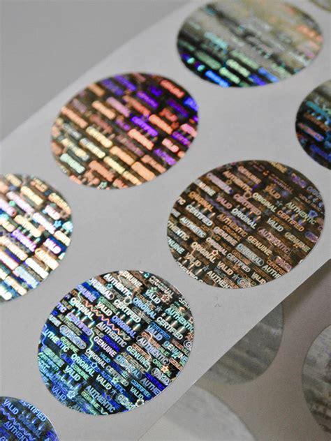 Hologramm Etiketten by Hologramm Etiketten Rund 248 25 Personalisiert