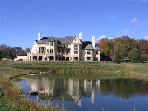 partially finished french normandy estate  michigan