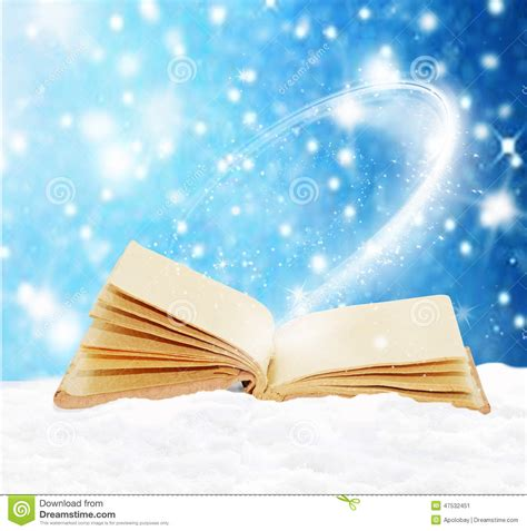 the snow picture book open book in the snow stock image image of decoration
