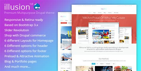 drupal themes envato illusion premium multipurpose drupal theme by