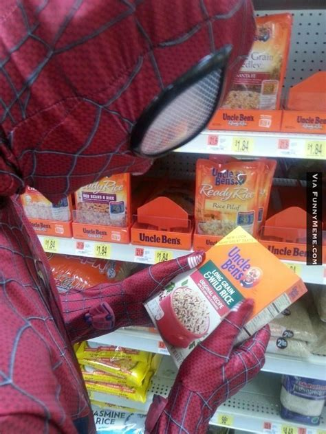 Spiderman Rice Meme - funny memes spiderman uncle ben s rice movie tv