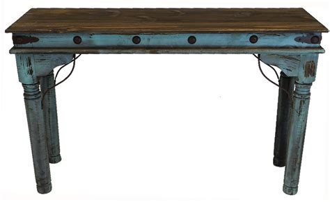 Antique Painted Turquoise Sofa Table Rustic Turquoise Sofa Turquoise Sofa Table