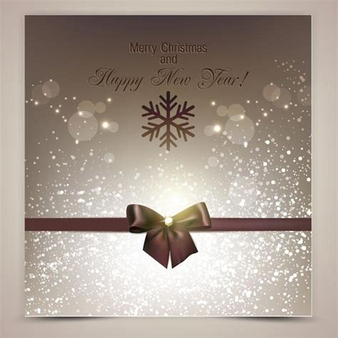 free vector elegant background christmas invitation card