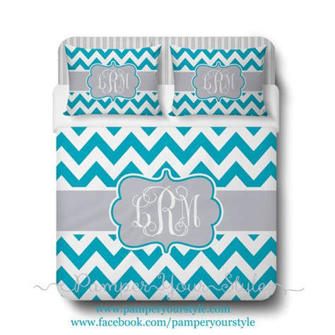teal chevron bedding custom designed chevron teal and gray bedding by pamperyourstyle