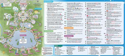 printable map epcot walt disney world maps wdw planning