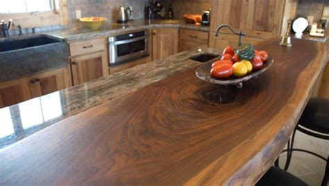 Slab Bar Tops by Chestnut And Walnut Slab Custom Cabinetry T Scholl