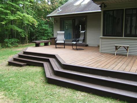 wrap around deck plans deck plans with wrap around stairs designs