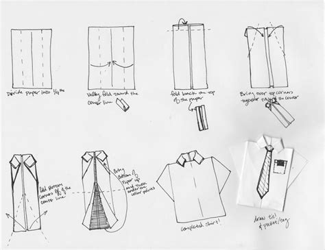 shirt tie tutorial origami shirt