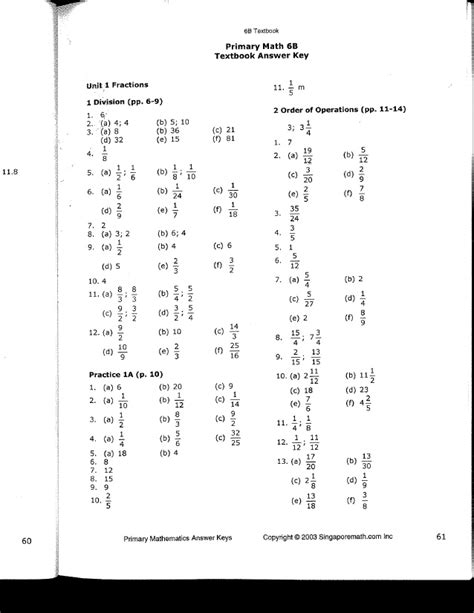 In Focus Worksheet Answers