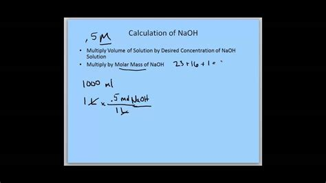how to m 0 5 m naoh solution youtube