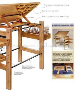 Make A Drafting Table Knockdown Drafting Table Plans Woodarchivist