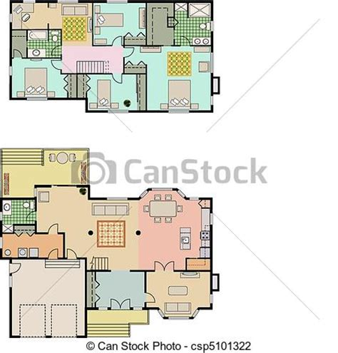 house layout vector vector illustration of house plans vector drawing of 4