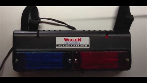 why are police lights red and blue whelen austin fl220 afl200 flatlighter red blue visor