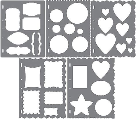 scrapbooking stencils and templates fiskars shape template stencil scrapbook xpress craft
