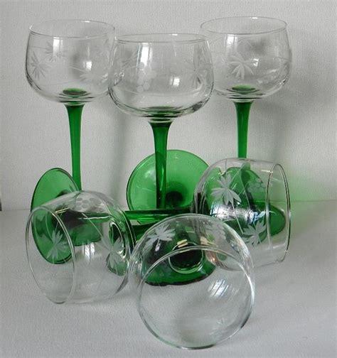 luminarc bicchieri luminarc 6 bicchieri da reno vintage vetro
