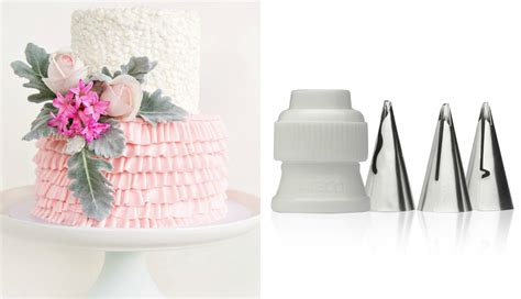 buttercream piping 101 decorating tips designs buttercream ruffle cake with new tips cake style