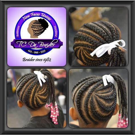 little boy hairstyles with beads braided ponytail feeder braids little girls braids