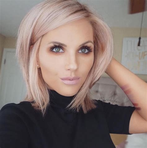 Blonde Hairstyles | rose gold hair inspiration for your dreamiest hair colour