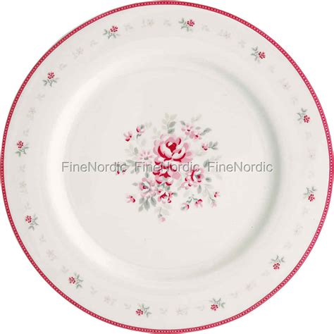 Flora White greengate dinner plate flora white