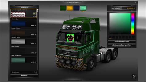 Skun 3739 Skun Motor ets 2 volvo schwertransport v 1 0 4 farben skin skins mod f 252 r eurotruck simulator 2