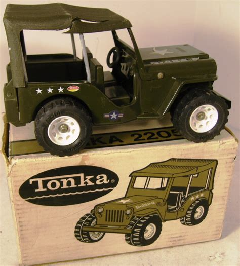 Tonka Jeep Vintage Tonka Us Army Jeep 2205 Boxed Severn