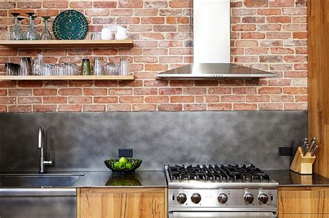 kitchen backdrop wood brick and refined panache modern industrial wall