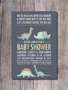 items similar to dinosaur baby shower invitation modern on etsy