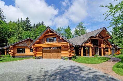 Handcraft Homes - handcrafted log home summit log and timber homes square