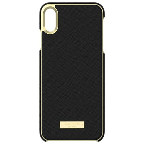 kate spade new york fitted shell for iphone xs max black gold iphone xs max cases