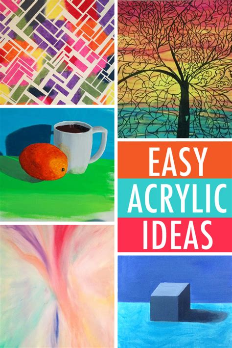 ideas to paint easy painting ideas 6 acrylic subjects for beginners