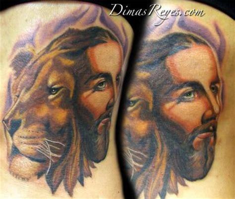 jesus lion tattoo color jesus and aslan lion tattoo by dimas reyes tattoonow
