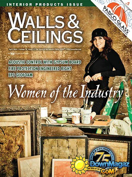 Walls And Ceiling Magazine by Walls Ceilings April 2013 187 Pdf Magazines