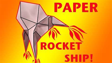 How To Make A Paper Spaceship That Flies - how to make a paper rocket ship origami