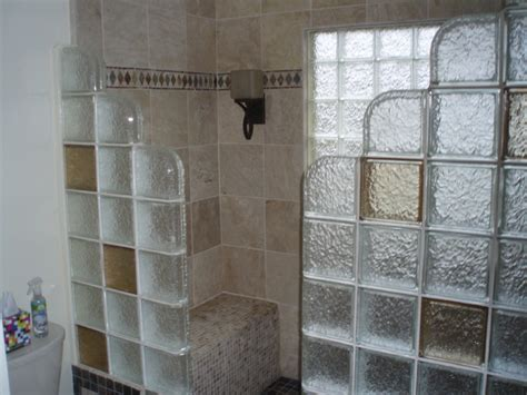 Glass block shower contemporary bathroom detroit by innovate building solutions