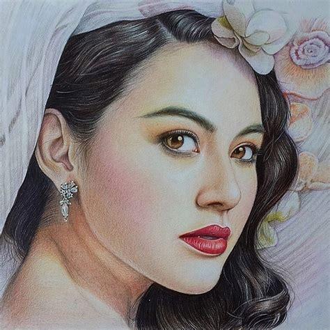 drawn girl colour pencil   color drawn girl colour