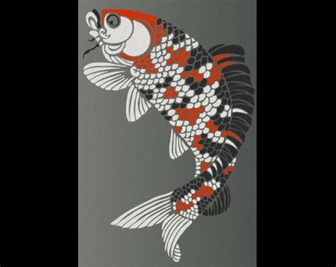 japanese koi pattern japanese koi fish stencil shop olive leaf stencils