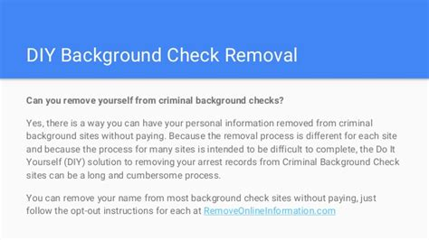 Detailed Criminal Background Check Removing Arrest Records From Criminal Background Checks